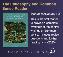 The Philosophy and Common Sense Reader by Markar Melkonian, published by Bloomsbury